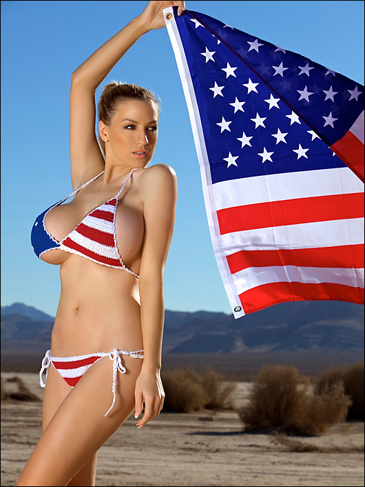 jordan carver american flag bikini
