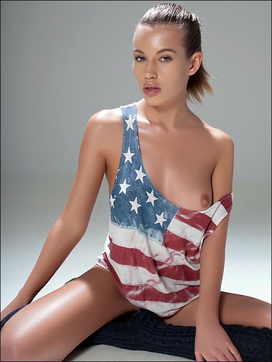 katya american flag bikini