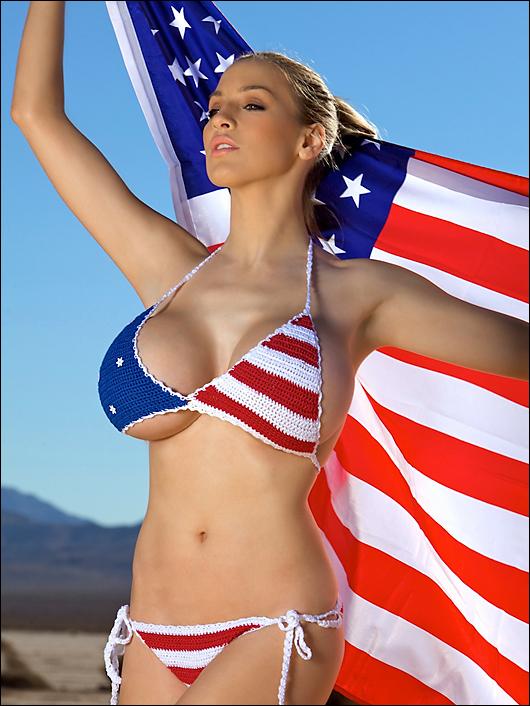 jordan carver stars & stripes bikini
