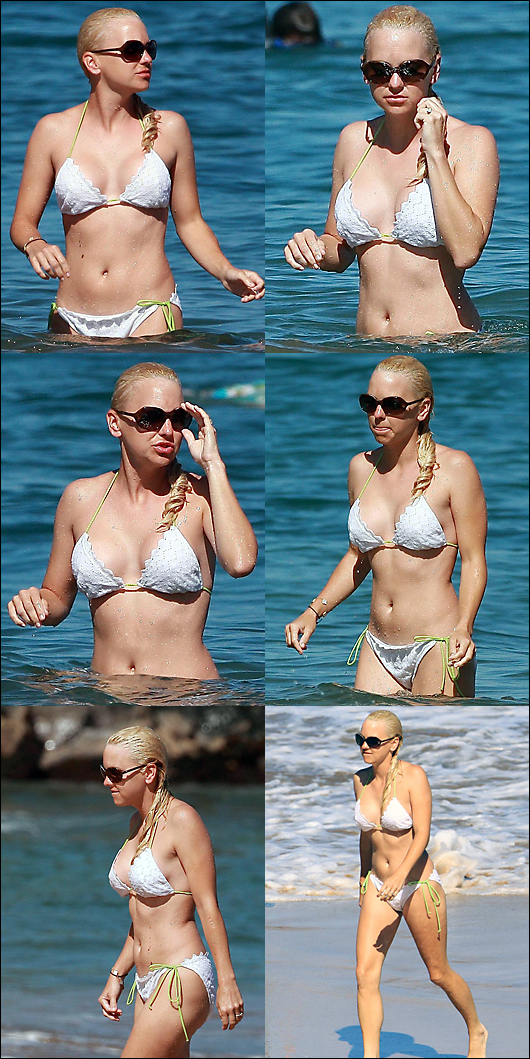 anna faris white bikini