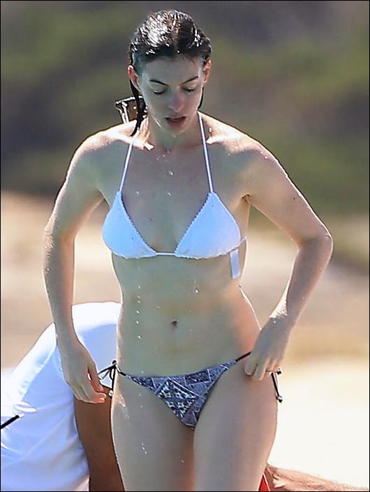 anne hathaway bikini ibiza