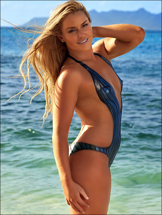 Lindsey vonn in bodypaint from SI swimsuit issue