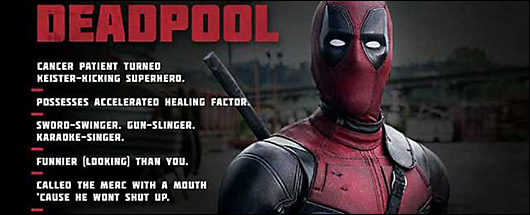 deadpool movie character profile -- deadpool