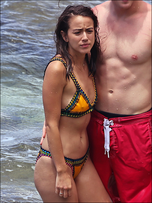 chloe bennett hard nipples in a bikini