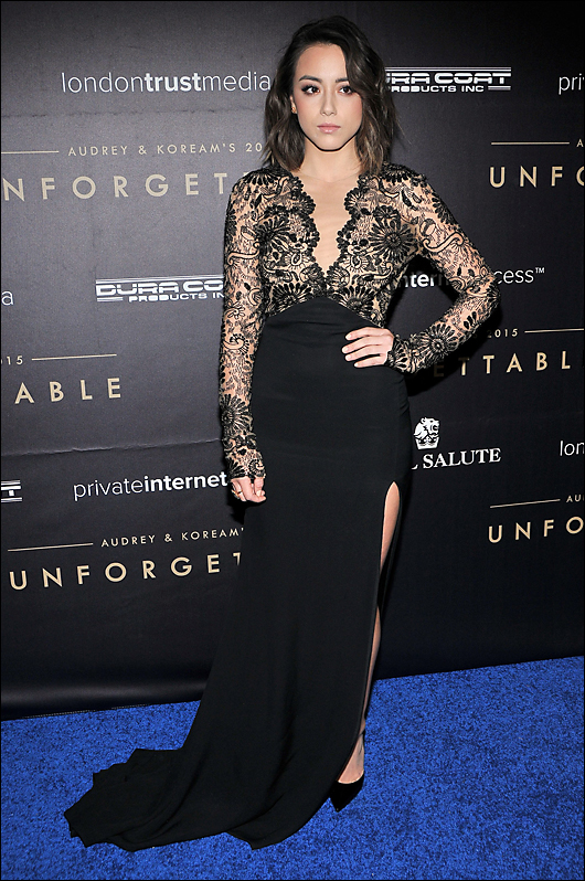 chloe bennett evening dress