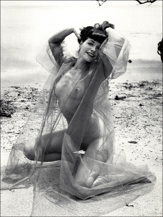 bettie page see through