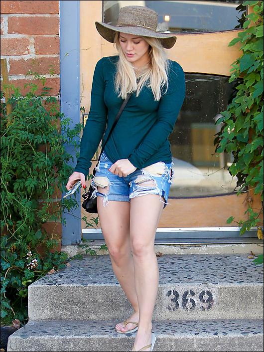 Hilary duff ripped shorts