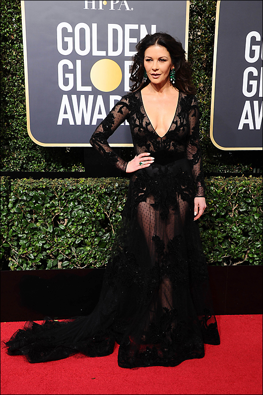 Catherine zeta-jones 2018 golden globes