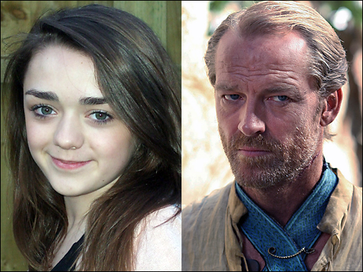 maisie williams & iain glen