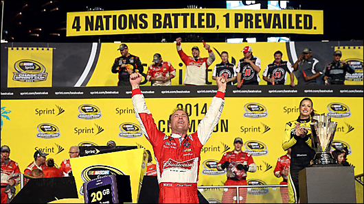 kevin harvick wins sprint cup championship 2014