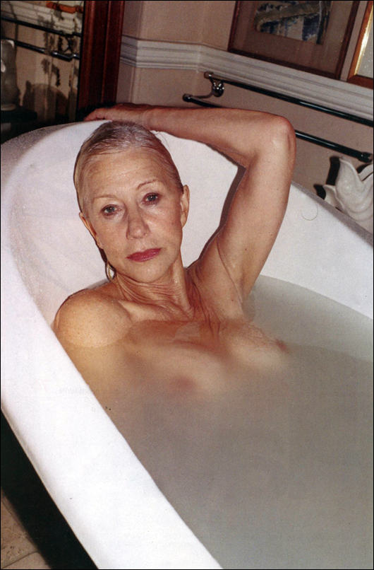 helen mirren topless in the bath at 71