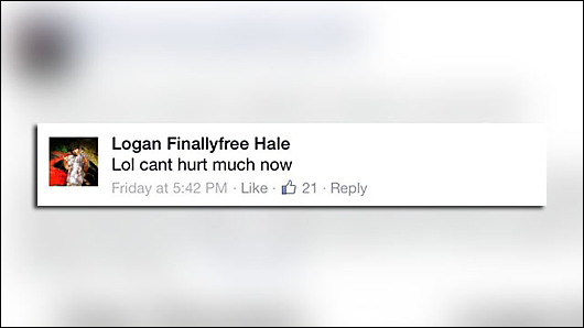 moron taunts police on facebook
