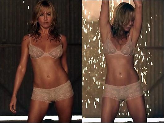 jennifer aniston lingerie stripper
