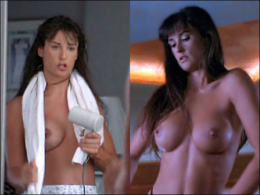 demi moore topless striptease