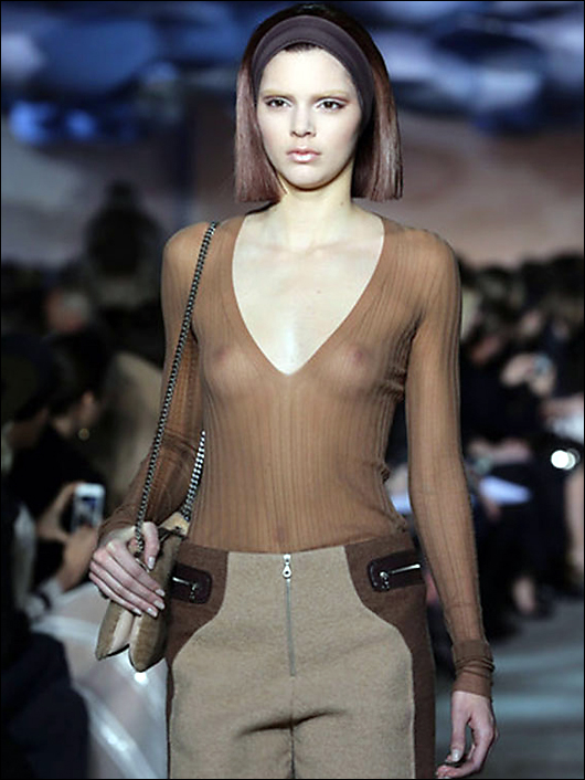 kendall jenner see through nipples