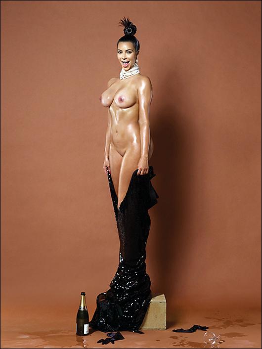 kim kardashian naked in paper magazine