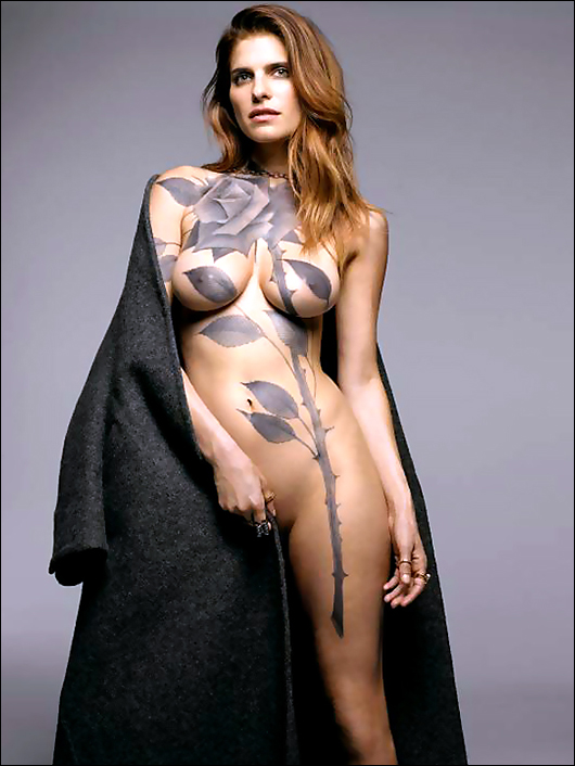 lake bell in bodypaint from ny magazine