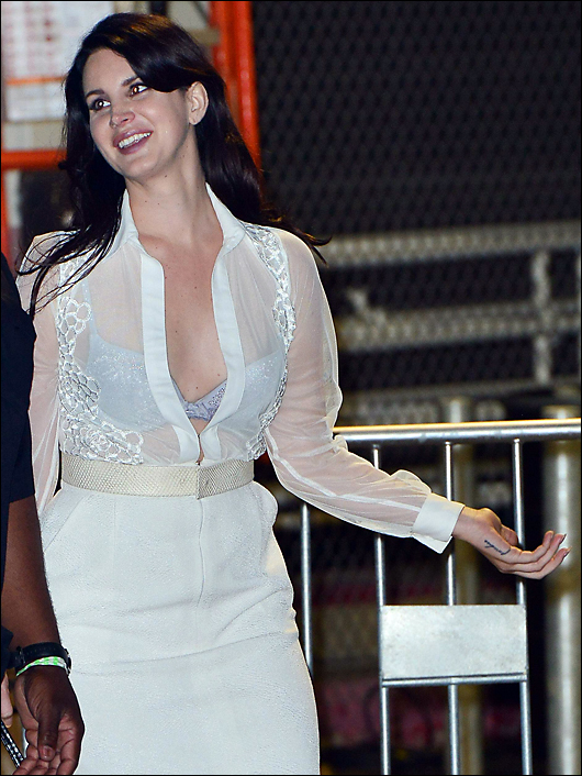 lana del rey sheer top