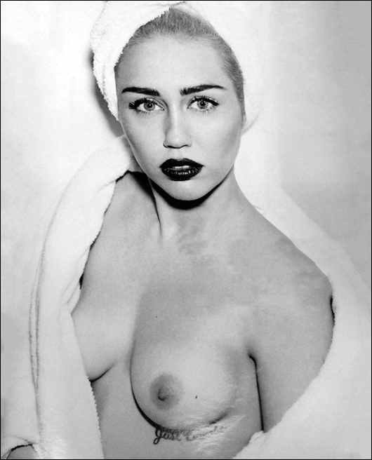 miley cyrus topless