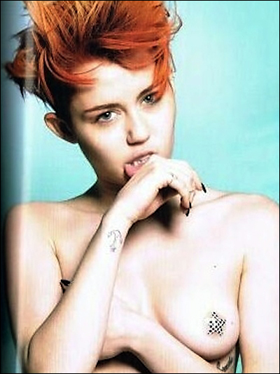 miley cyrus topless in love magazine