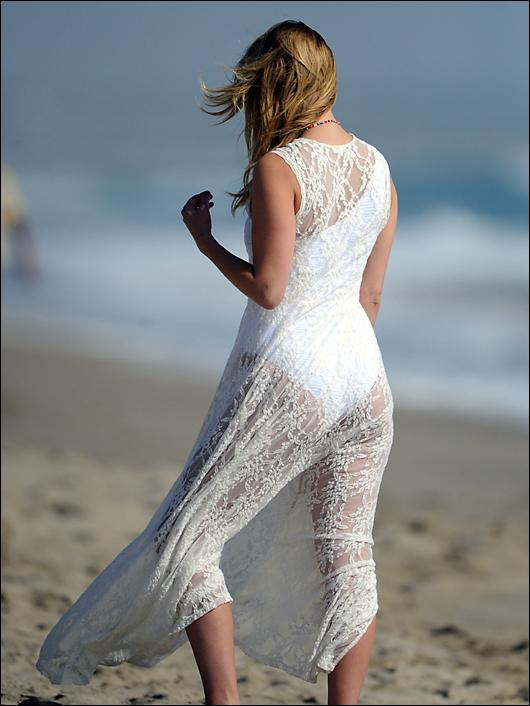 mischa barton white bikini