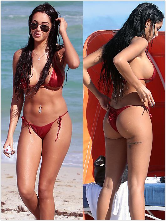 nabilla benattia beach bikini
