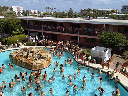 spring breakers pool party coral reef hotel
