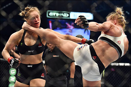 ronda rousey gets her ass kicked by holly holm