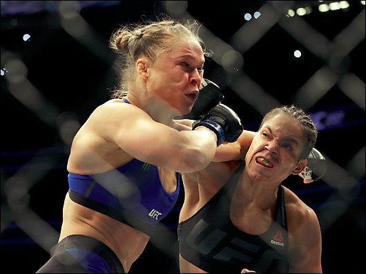 ronda rousey gets her ass kicked by amanda nunes