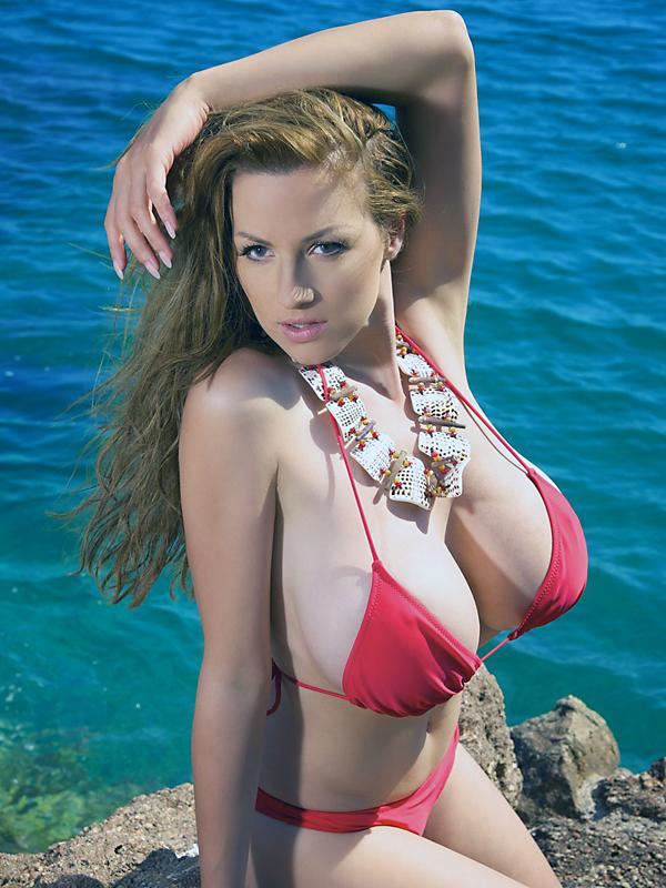 jordan carver - red bikini