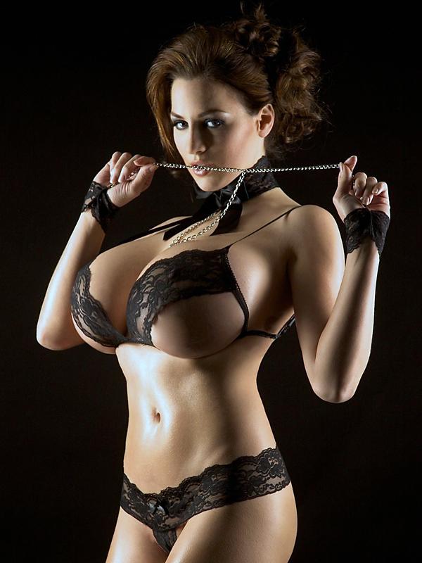jordan carver - black lingerie