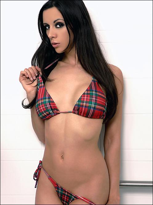 kerri taylor plaid bikini