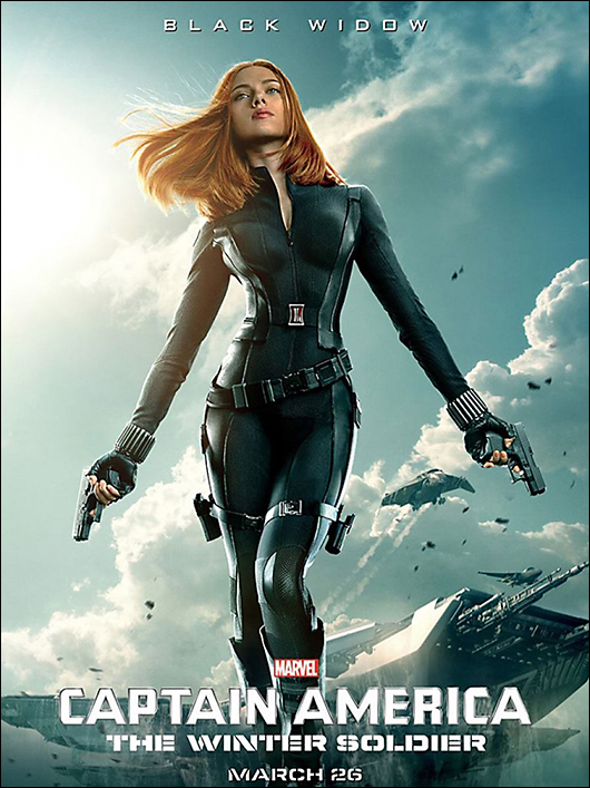 scarlett johansson / black widow movie poster