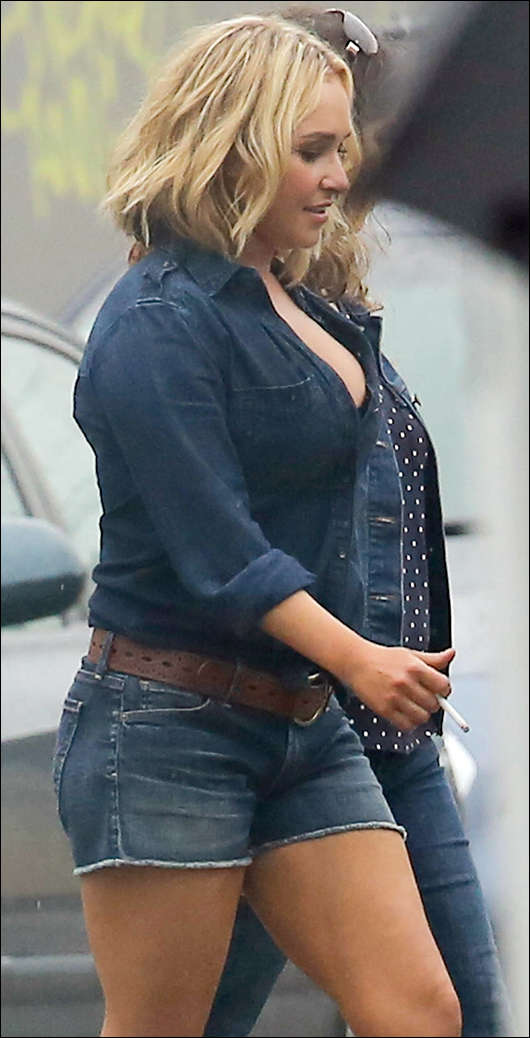 hayden panettiere cut-off shorts