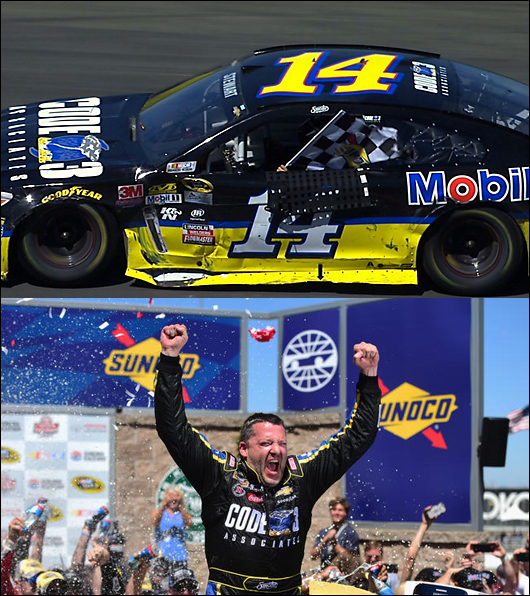 tony stewart wins at sonoma