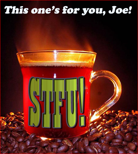 here's a steaming cup of stfu for you joe