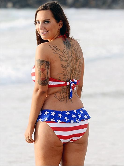 sydney leathers stars & stripes bikini