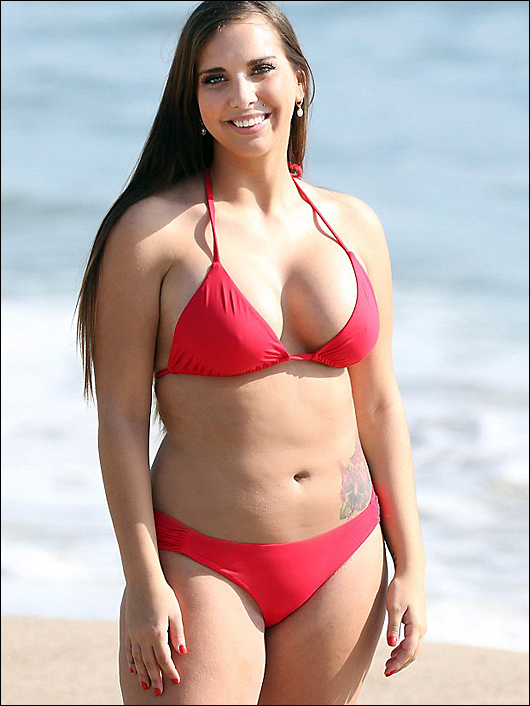 sydney leathers post plastic surgery in a bikini