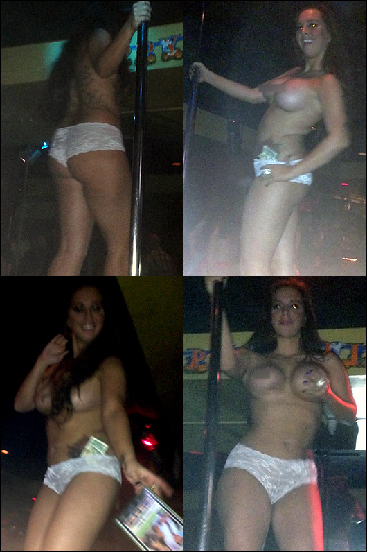 sydney leathers topless pole dancing