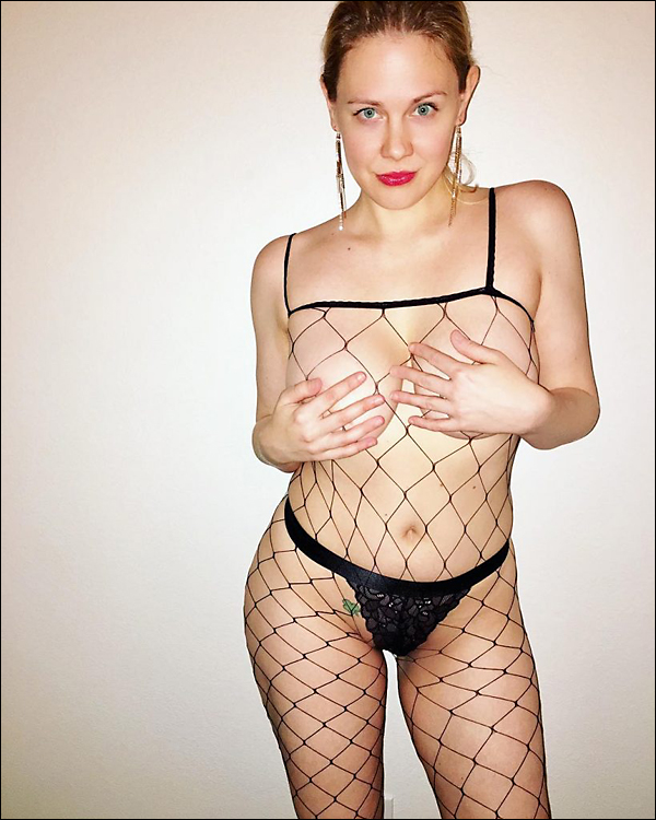 maitland ward topless in fishnet